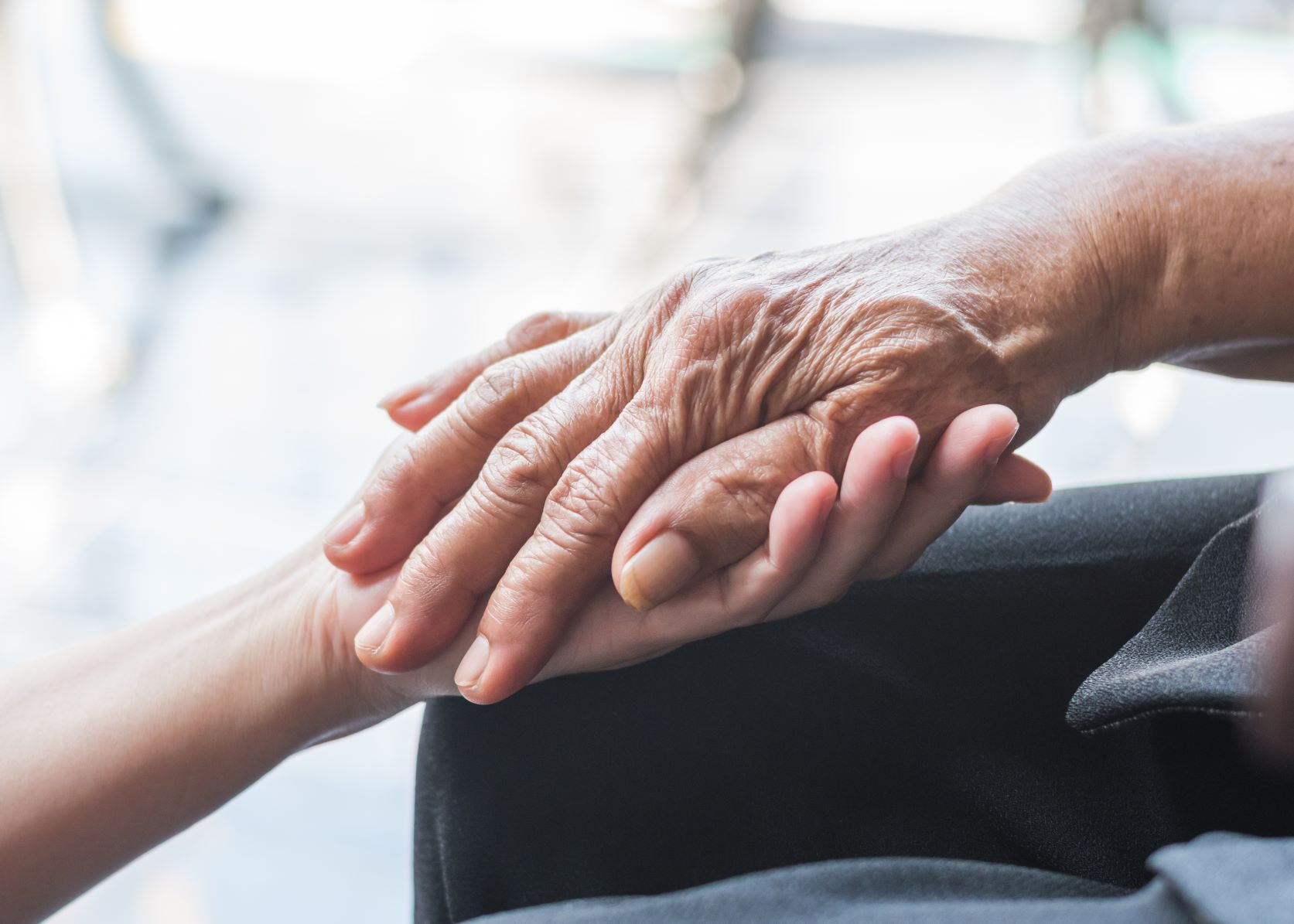 how to cope with bereavement  holding hands